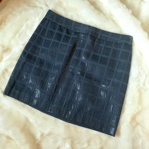 Gap skirt - textured square grid pattern
